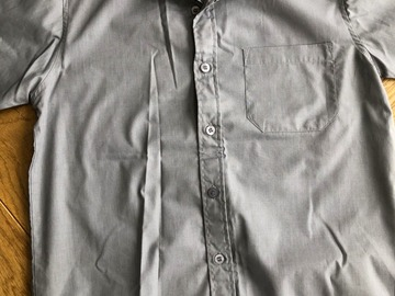 """Selling with online payment: Grey Short Sleeve Shirt - 13.5"""""""