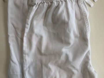 Selling with online payment: 2x White Sports Shorts - Age 11/12
