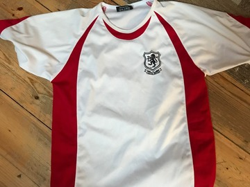 Selling with online payment: Drake PE Top and White Shorts (Age 11-12)