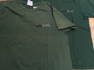 Selling with online payment: Moat School PE T-Shirt Green Size Child XL -age 9-10