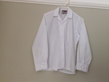 Selling with online payment: White long-sleeve winter blouse 65cm/26inch
