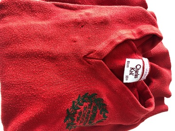 """Selling with online payment: Red crest jumper - 32"""""""
