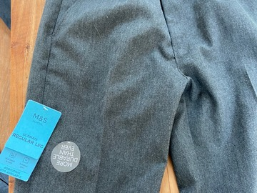 Selling with online payment: New unworn M&S Regular leg boys 10-11 Grey Trousers