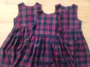 Selling with online payment: Set of three Brae Pinafores size 24in