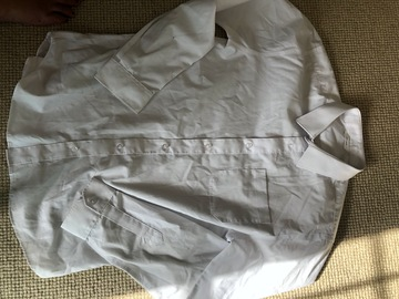 "Selling with online payment: SH 4xwhite long sleeved shirts/age 12/chest 30""/John Lewis"