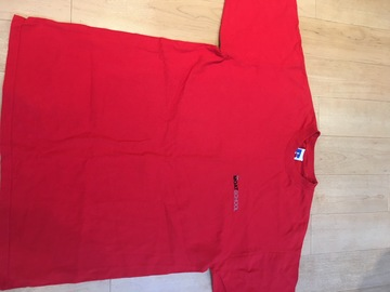 Selling with online payment: Moat School PE T-Shirt Red Adult M