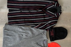 Selling with online payment: SH Blazer, Jumper, Woolly hat and Swim cap