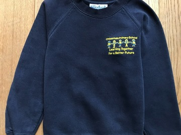 Selling with online payment: Age 7-8, Navy, Logo Sweatshirt