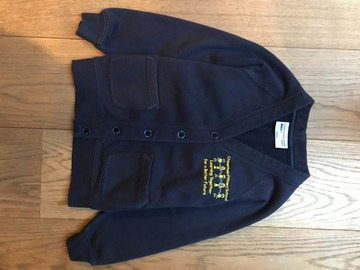 Selling with online payment: Age 5-6, Cardigan with Logo