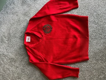 """Selling with online payment: Red crest jumper 26"""""""
