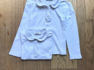 Selling with online payment: Age 3-4, George,  White, Long-sleeved T-shirt, Girls, x2
