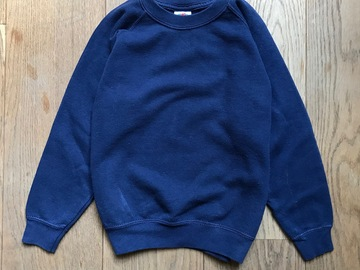 Selling with online payment: Age 5-6, Fruit of the Loom, Navy, Sweatshirt