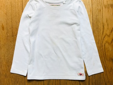 Selling with online payment: Age 5, Next, White, Long-sleeved T-shirt