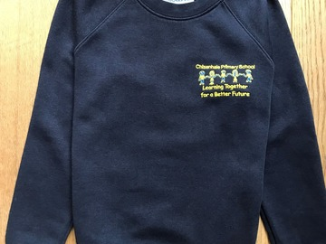 Selling with online payment: Age 7-8, Woodbank, Navy, Logo Sweatshirt