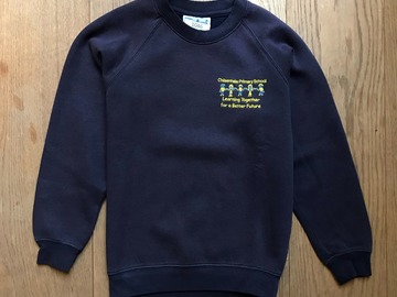 Selling with online payment: Age 9-10, Woodbank, Navy, Sweatshirt with Logo