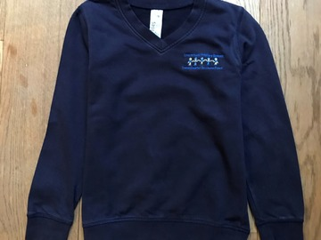 Selling with online payment: Age 9-10, F&F, Navy, V-Neck Sweatshirt with Logo