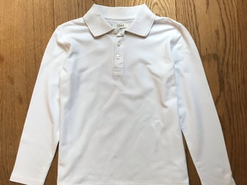 Selling with online payment: Age 9-10, M&S, White, Long-sleeved Polo