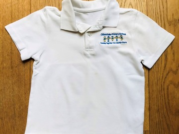 Selling with online payment: Age 6-7, F&F, White, Short-sleeved Polo with logo
