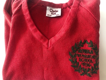 """Selling with online payment: Red crest jumper. 26"""""""