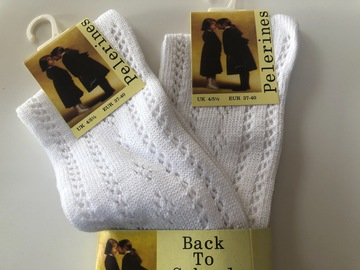 Selling with online payment: White socks - 4/5.5 x 2