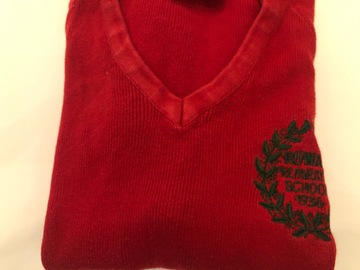 """Selling with online payment: Red crest jumper - 28"""""""