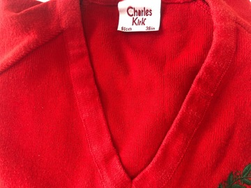 """Selling with online payment: Red crest jumper - 36"""""""