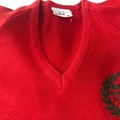 Selling with online payment: Red crest jumper - 34""