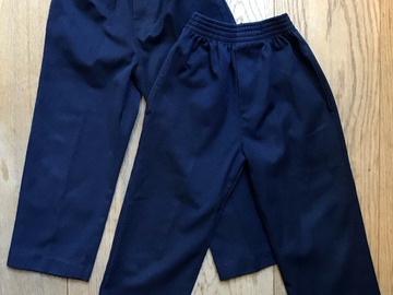 Selling with online payment: Age 4-5, Zeco, Navy, Trousers, x2