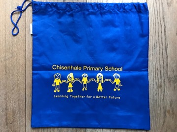 Selling with online payment: Blue PE Bag with Logo