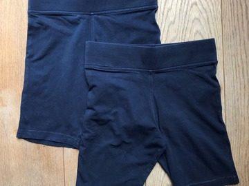 Selling with online payment: Age 7-8, M&S, Navy, Shorts, Girls, x2