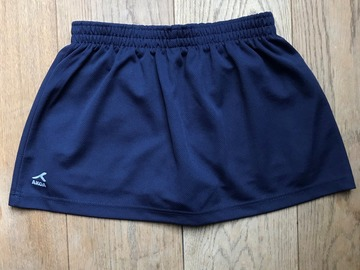 Selling with online payment: Age 10-11, Akoa, Navy, PE Skirt with Shorts, Girls