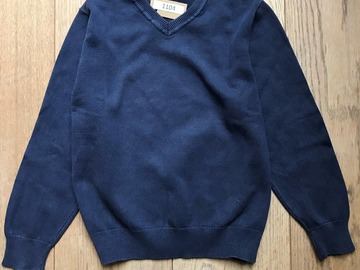 Selling with online payment: Age 6-7, George, Navy, V-Neck Jumper
