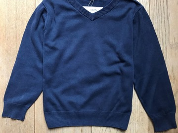 Selling with online payment: Age 4-5, George, Navy, V-Neck Jumper