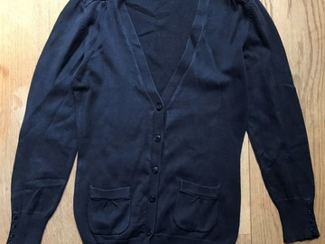 Selling with online payment: Age 12, Tu, Navy, Cardigan