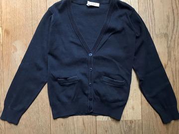 Selling with online payment: Age 13-14, M&S, Navy, Cardigan