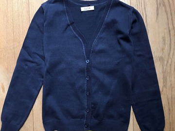Selling with online payment: Age 8-9, M&S, Navy, Cardigan