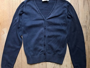 Selling with online payment: Age 9-10, M&S, Navy, Cardigan