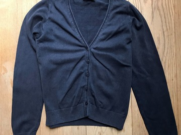 Selling with online payment: Age 11-12, M&S, Navy, Cardigan