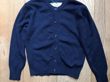 Selling with online payment: Age 4-5, M&S, Navy, Cardigan
