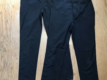 Selling with online payment: Age 11-12, M&S, Black, Trousers, x2