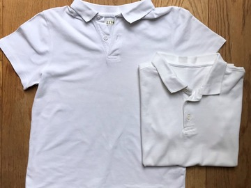 Selling with online payment: Age 9-10, George, White, Short-sleeved Polo, x2