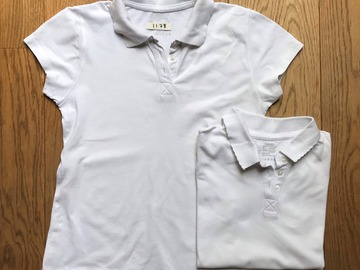 Selling with online payment: Age 10-12, Smart Start, White, Short-sleeved Polo, Girls, x2