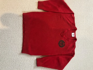 Selling with online payment: Red crest jumper