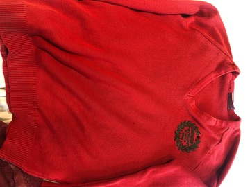 Selling with online payment: 30 inch Red crest jumper