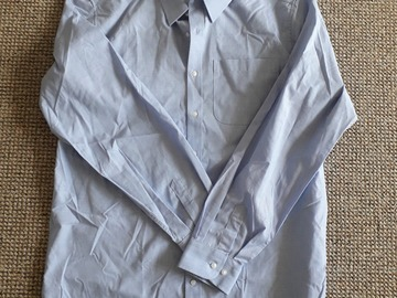 """Selling with online payment: Blue Shirt (Long Sleeve 16"""" collar)"""