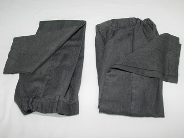 Selling with online payment: Grey Trousers M&S 7-8Years 2pack