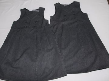 Selling with online payment: Grey Pinafore M&S 4-5years 2pack