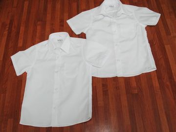 Selling with online payment: White Shirts M&S 4-5years NEW (2pack short sleeve)