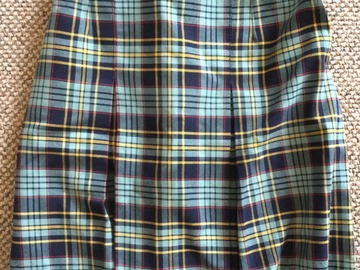 Selling with online payment: Tartan 4 Pleat Skirt