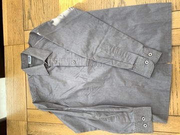 """Selling with online payment: 2 long sleeve Grey shirts 33/13"""""""